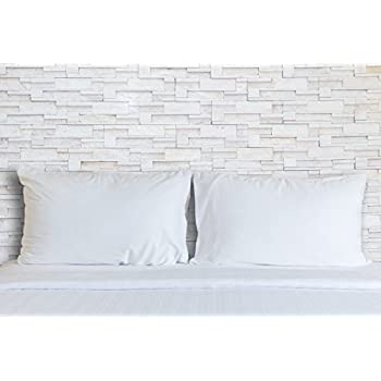 Image of Continental Bedding Premium 100% White Goose Down Pillow. Standard Size [Soft] (Set of 2) Home and Kitchen