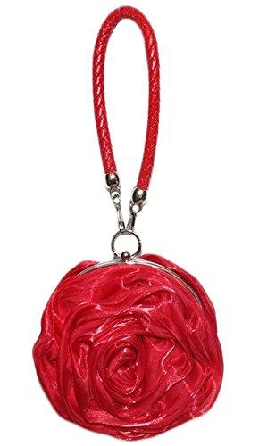 Rouge Sac Femme Forme Fleurs UK Argent Mariage Sac poignet de Main Sac Soirée à Rouge Casual Pochette stone UqfHH6FWST
