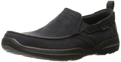 Skechers USA Men's Harper Delen Slip-On Loafer,Black Canvas,10 M US by Skechers (Image #1)