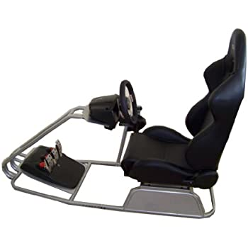 GTR Simulator - GTS Model with Adjustable Racing Seat - Driving Racing Simulator Cockpit with Gear Shifter Mount