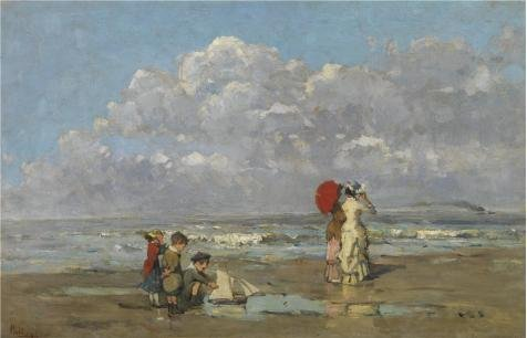 [High Quality Polyster Canvas ,the Imitations Art DecorativeCanvas Prints Of Oil Painting 'Pericles Pantazis,On The Beach,1849-1884', 10x16 Inch / 25x40 Cm Is Best For Dining Room Gallery Art And Home Decor And] (Plastic Surgery Costume Makeup)