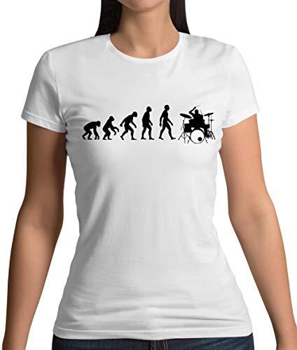 Evolution of Man Drummer - Womens T-Shirt - White - L
