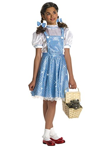 Wizard of Oz Child's Deluxe Sequin Dorothy Costume, Large -