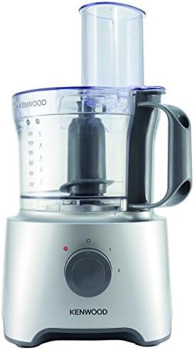 Kenwood FDP302SI MultiPro Compact Food Processor, Robot da Cucina con Frullatore, 800 W, 2,1 Litri, Argento
