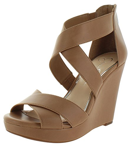 Peep Casual Jessica Sandals Toe Buff Leather Simpson Womens Jadyn Platform pxpqwIBP