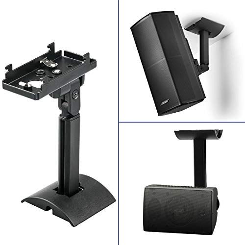 Black UB-20 Series II Wall Mount Ceiling Bracket Stand Compatible with All Bose CineMate Lifestyle Wall/Ceiling Bracket