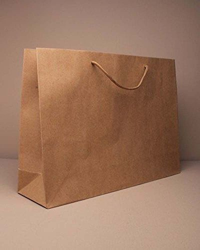 12 PACK NATURAL BROWN GIFT BAGS CORDED HANDLES CRAFTS GIFTS