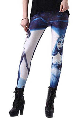 Yoga Pants Leggings Charming Starry Sky Print Sport Casual Capris,X-Large,Portrait