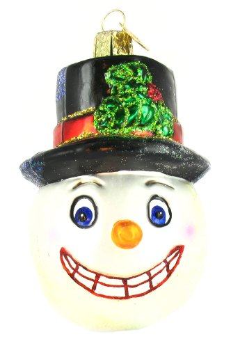 Old World Christmas VINTAGE SNOWMAN Blown Glass Ornament Christmas 24049