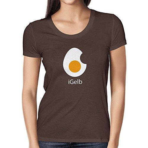 Texlab iGelb - Damen T-Shirt, Größe M, Braun