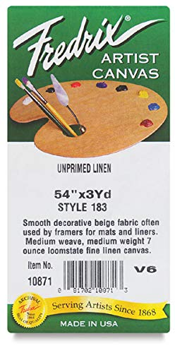 Fredrix Unprimed 183 Linen Smooth Roll: 3 yds. x