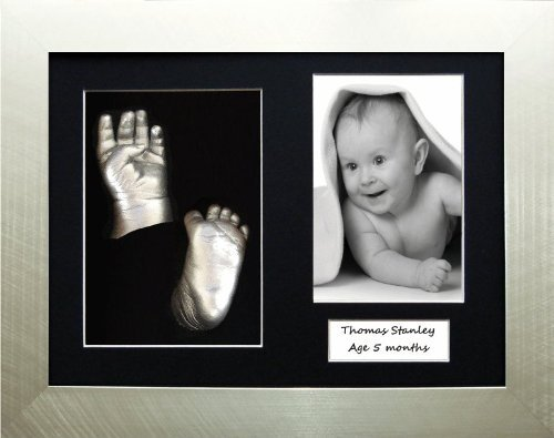 3D Baby Casting Kit, Silver Frame / Black 3 hole mount / Metallic Silver Paint by BabyRice 108.BLK3.SSS