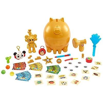 Ryans World Deluxe Golden Piggy Bank Egg Surprise: Toys & Games
