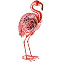 CC Home Furnishings 22 Beach Party Hand Crafted Decorative Pink Flamingo Figure Fan