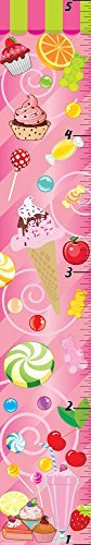 Mona Melisa Designs Customized Sweet Shop Growth Chart Multicolored [並行輸入品]   B077Z479LQ