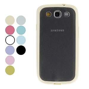 CECT STOCK Caja dura superficial mate para Samsung Galaxy S3 I9300 (colores surtidos) , Azul