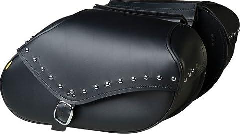 Willie & Max 03440 Large Studded Throw-Over Revolution Saddlebag Set - Studded Revolution