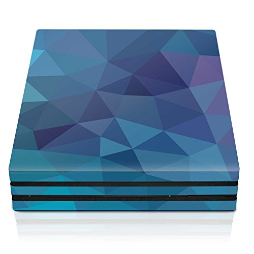 Controller Gear PS4 Pro Console Skin – Deep Blue Poly Horizontal – PlayStation 4