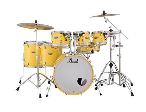 Pearl Decade DMP927SP/C228 7 Piece Drum Shell Pack, Solid Yellow