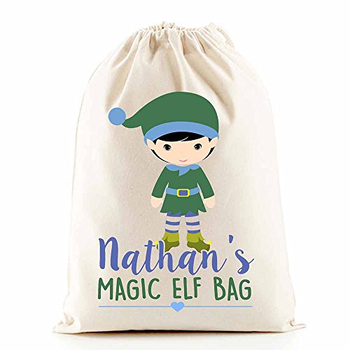 Elf Boy sacco 50x 75cm sacco di Babbo Natale calza di Natale sacchetto regalo Alta Calidad Barata Diseños A Granel Baja Tarifa De Envío NC6DftpMcE
