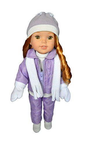 My Brittany's Purple Snowsuit for Wellie Wisher Dolls, Glitter Girl Dolls and Hearts for Hearts Dolls- 14 Inch Doll Clothes (Snowsuit Doll Clothes)
