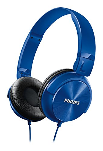 Philips SHL3060BK Cuffie a Padiglione con Fascia Regolabile, Cavo da 1.2 m, Blu