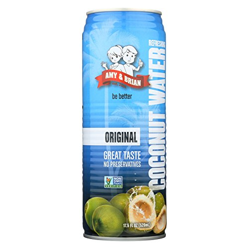 Amy and Brian Coconut Water - Original - Case of 12 - 17.5 Fl oz. by Amy & Brian