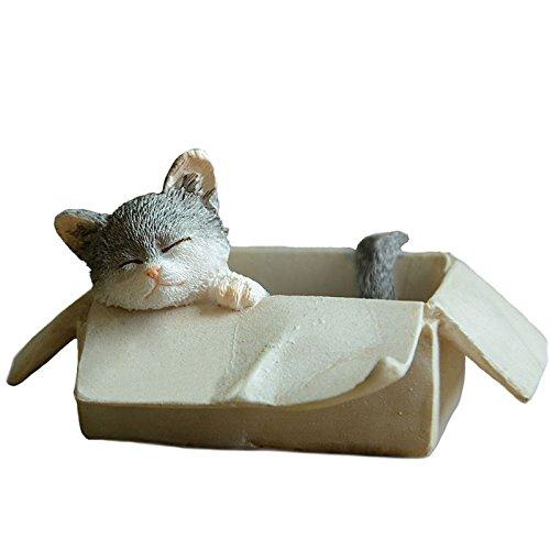 Gemmia Cat Fairy Figurine - Box Grey cat