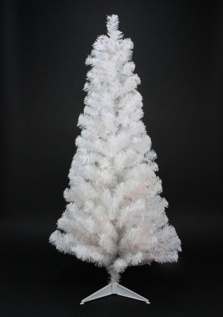Slim Unlit Christmas Tree (Northlight Unlit Slim White Tinsel Artificial Christmas Tree, 4' x 24