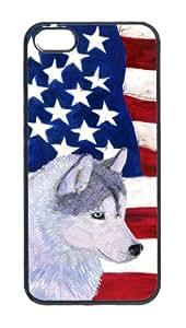 EEUU bandera con guardaanimales celular cubierta iPHONE 5