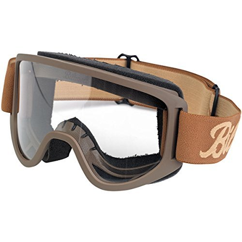 - Biltwell Script/Sand Moto 2.0 Goggles (Chocolate, One Size Fits Most) (M2LOGCOSD)