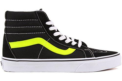 Black Yellow Blanc Leather UA Reissue Neon Sk8 Sneakers EU Vans Hi Neon Homme Hautes 41 x7A61A0wq