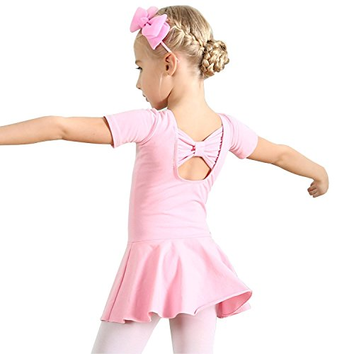 Ballerina Dress Costume Tights Clothing for Girls Tutu Leotard Ballet Child 4T 3T Dance Toddler Girl Gymnastics Dress Size 4 US-S ()