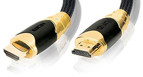 IBRA® PRO GOLD NEGRO - 6m - Cable HDMI de alta velocidad | nuevo modelo 2.0 | Full HD 1080p | 4K Ultra HD 2160p | 3D ARC CEC |18Gbps | compatible con ...