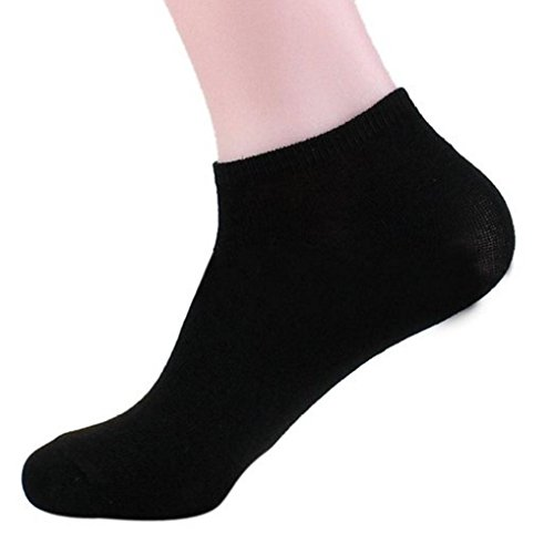 Davido Mens socks Ankle low cut made in Italy 100% cotton 8 pairs black or white