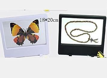 geo-versand 3 St/ück 9x9 cm 3D Frame Display Aufsteller St/änder M/ünzen Sammeln Bilderrahmen Folie
