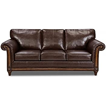 simmons upholstery 800104q san diego coffee bonded leather queen hideabed