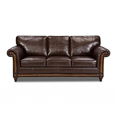 Simmons Upholstery 8001 04Q San Diego Coffee Bonded Leather Queen Hide A Bed