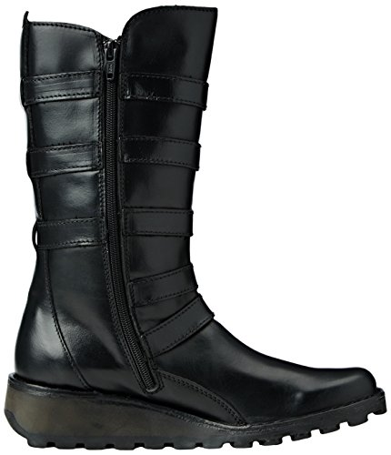 FLY London Meca895fly, Botas Biker para Mujer Negro (Black 000)