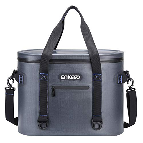 ENKEEO 30 Cans Cooler Bag, Insulated Soft Cooler Bag Leak-proof Pack Cooler with 20 Quart Large Capability, Portable for Lunch, Camping, Picnic, Beach, Fishing, and Work