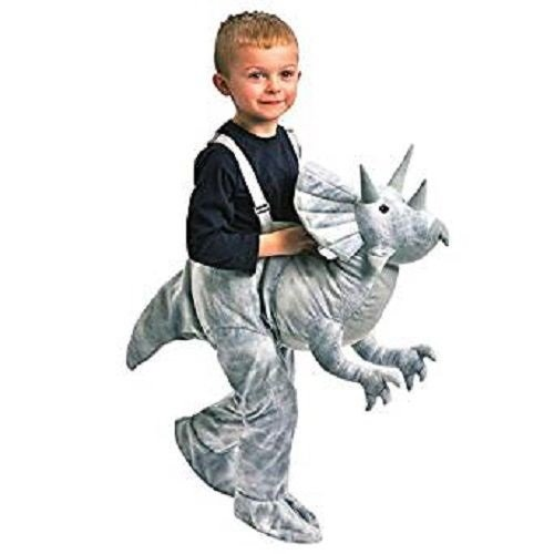 Topstar Kids Dress Up Dinosaur TriceratopsCostume Ages 3-7 Gray -