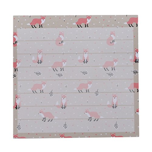 SOURBAN Floral Sticky Note Cartoon Animal Self-Stick Memo Notes Pads 80sheets,Fox ()