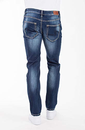 Vaquero Hombre Slim Jeans para Monkey Azul Blue wXx7nqE66f