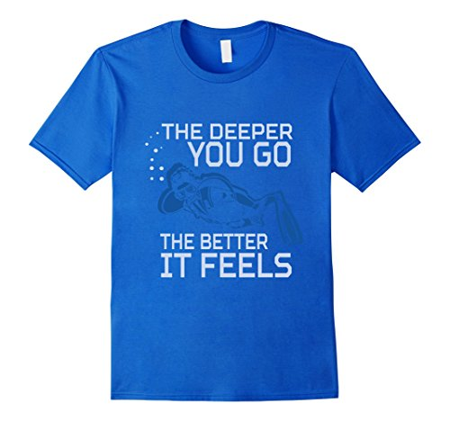 [Men's Scuba Diver T-Shirt XL Royal Blue] (Adult Deep Sea Diver Costumes)