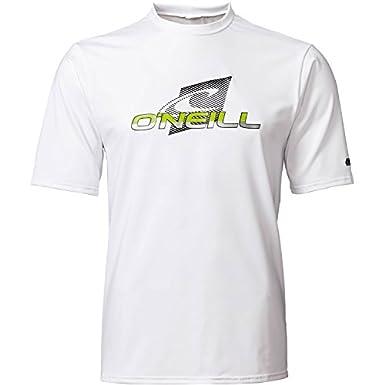 59-511, 150-170 lbs ONeill Mens Core Wave Short Sleeve Rash Tee Black Rash Guard Shirt M
