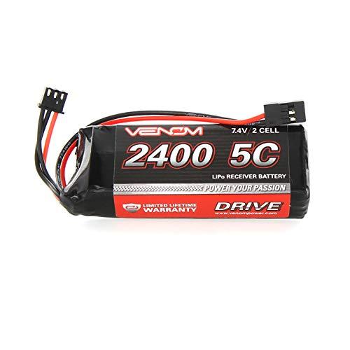 (Venom 15000 LiPo 2S1P 7.4V 2400mAh Flat RX)