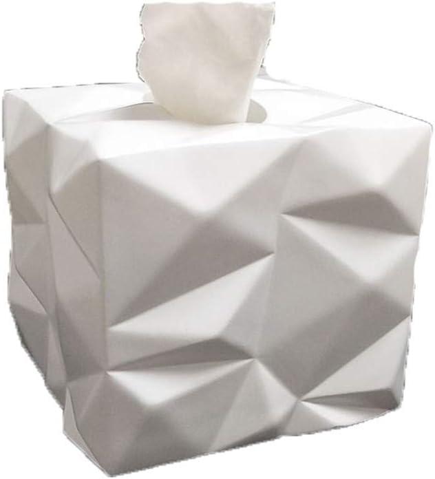 ENXING Bo/îte /à mouchoirs en Diamants Porte-Serviette en Papier carr/é europ/éen Porte-Serviette /écologique en r/ésine 13,8x13,5 cm Blanc