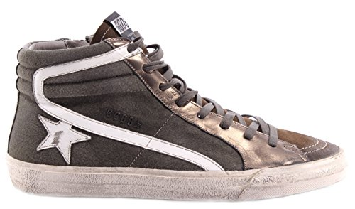 Zapatos Hombres High Top Sneaker GOLDEN GOOSE Slide Olive Green Made Italy New