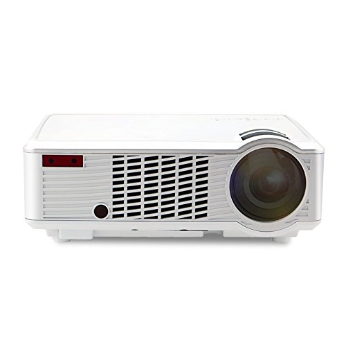 Projector warranty included xinda 2000 lumens led lcd for Portable projector with usb input