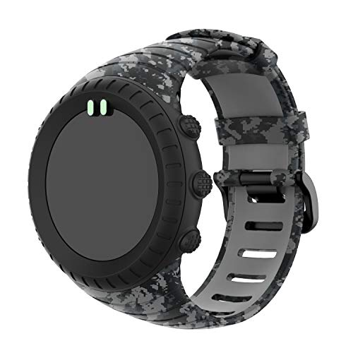 (Compatible Suunto Core Watch Band Strap, Silicone Wristband Replacement Accessory Strap Sport Bracelet for Suunto Core Smart Watch (B))